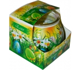 Admit Easter Green decorative aromatic candle in glass 80 g