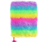 Albi Hairy block Rainbow 16 cm x 22 cm