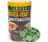 Tubifex Veget Tab basic food for fish that receive food from water levels of 125 ml