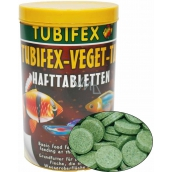 Tubifex Veget Tab basic food for fish, which receive food from water levels 125 ml