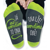 Nekupto Family gifts with humor Socks I don't stink, size 39-42