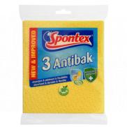 Spontex 3 Antibak antibacterial sponge cloth yellow 3 pieces