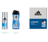 Adidas Climacool antiperspirant deodorant spray for men 150 ml + 3 in 1 shower gel for body, face and hair 250 ml, cosmetic set