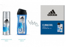 Adidas Climacool antiperspirant deodorant spray 150 ml + 3in1 shower gel for body, face and hair 250 ml cosmetic set for men