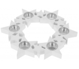 Candlestick Stars in a circle, wooden, white 310 mm for 6 pieces of tea candles
