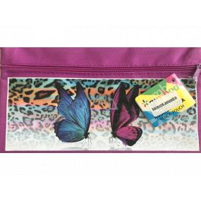 Donau Gimboo School case with zipper purple with bow ties 22 x 12 cm