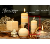 Lima Winter Glitter Vanilla scented candle cylinder 50 x 100 mm 1 piece