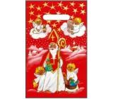 Angel plastic bag red Nicholas, angels 32 x 20 cm
