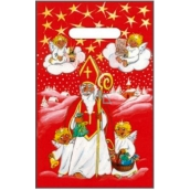 Angel plastic bag red Santa Claus, angels 32 x 20 cm