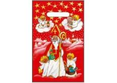 Angel plastic bag red Santa Claus, angels 32 x 20 cm