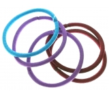 Hair band burgundy, violet, turquoise 5 x 0,4 cm 5 pieces