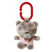 Me to You Tiny Tatty Teddy Teddy bear whistle in pink T-shirt 10 cm