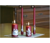 Lima Relief winter candle metal burgundy cone 22 x 250 mm 1 piece