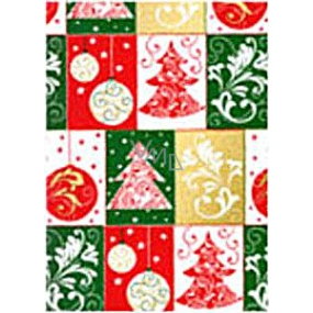 Ditipo Gift wrapping paper 70 x 500 cm Christmas colored trees, flasks