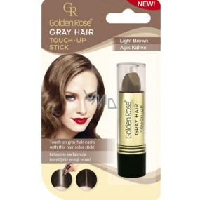 Golden Rose Gray Hair Touch-Up Stick Coloring Concealer for Hair and Gray Hair 06 Light Brown 5.2 g