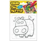 Folding coloring book Hippo 25 pieces 18 x 12 cm