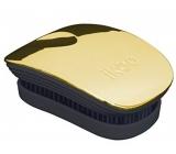 Ikoo Pocket Metallic Pocket hair brush according to Chinese medicine metallic gold-black