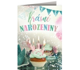 Nekupto Playing card for birthday Special with effects Cake 156 x 223 mm