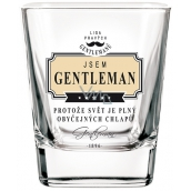 Nekupto League of Real Gentlemen Whiskey glass I'm a Gentleman because the world is full of ordinary guys 7 x 7 x 9 cm