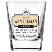 Nekupto League of True Gentlemen Whiskey glass I'm a Gentleman because the world is full of ordinary guys 7 x 7 x 9 cm