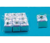 Gift white pearl 3,5x3,5cm, 9pcs in bag 4673 4949