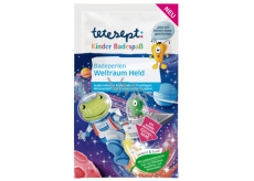 Tetesept Cosmonaut Bath Pearls Amazing Water Color, Glitter Effect and Crackling for Children 80 g