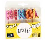 Albi Cake candles name - Nikolka, 2.5 cm