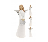 Angel ceramic standing silver wings mix 150 mm 1 piece