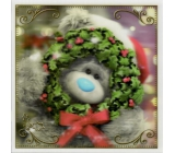 Me to You Envelope Greeting Card 3D Christmas Card, Christmas Bear with Wreath 15.5 x 15.5 cm