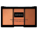 Gabriella Salvete Trio Highlighting Palette palette of three powders for brightening and contouring the skin 15 g