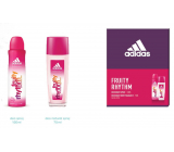 Adidas Fruity Rhythm perfumed deodorant glass for women 75 ml + deodorant spray 150 ml, cosmetic set