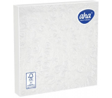 Aha Paper napkins 3 ply 33 x 33 cm 15 pieces Embossed white