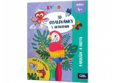 Albi Kvído 3D coloring book Parrot and butterfly recommended age 4+