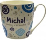 Nekupto Twister hrnek se jménem Michal modrý 0,4 litru 051 1 kus