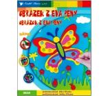 Obrázky z EVA pěny Motýl 33 x 25 cm