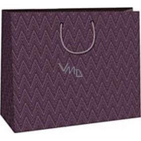 Ditipo Gift paper bag 38 x 10 x 29.2 cm purple geometric pattern