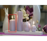 Lima Pastel candle metal light purple cylinder 50 x 100 mm 1 piece