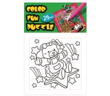 Folding Christmas motif Teddy bear and star 25 pieces 18 x 12 cm coloring pages