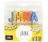 Albi Cake candles name - Jana, 2.5 cm