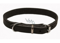 Collar Leather cowhide black-oily leather 1,2 x 30 cm