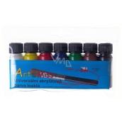 Art e Miss Universal acrylic paint glossy set 7 x 12 g