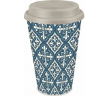 Albi Bamboo travel mug Tiles blue 340 ml
