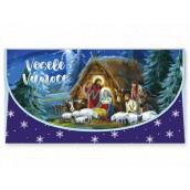 Nekupto Greeting card envelope for money Christmas nativity scene 116 x 220 mm