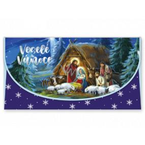 Nekupto Greeting card envelope for money Christmas nativity scene 116 x 220 mm OJ