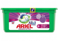 Ariel All in 1 Pods Color & Style Complete Fiber Protection gel capsules for washing colored clothes 30 pieces 756 g