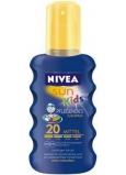 Nivea Sun Kids F20 barevný sprej na opalování pro děti 200 ml