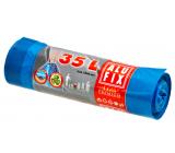 Alufix Premium Trash bags retractable blue 20 µ, 35 liters, 53 x 60 cm, 15 pieces