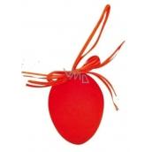 Vajíčko stříkané závěs oranžové 6 cm, 1 ks