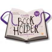 If Gimble Adjustable Bookholder Travel Book Holder purple 340 x 240 x 20 mm