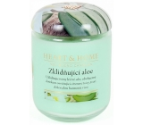 Heart & Home Soothing Aloe Soy Scented Candle medium burns up to 30 hours 110 g